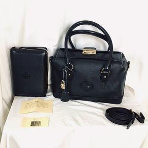 Dooney and Bourke  Classic Leather Doctor Satchel Bag & Planner Notebook Set